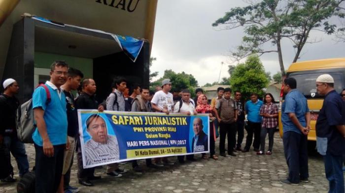 Sempena Hari Pers Nasional, 70 Wartawan Riau Ikuti Safari Jurnalistik di Dumai | PWI,-Wartawan